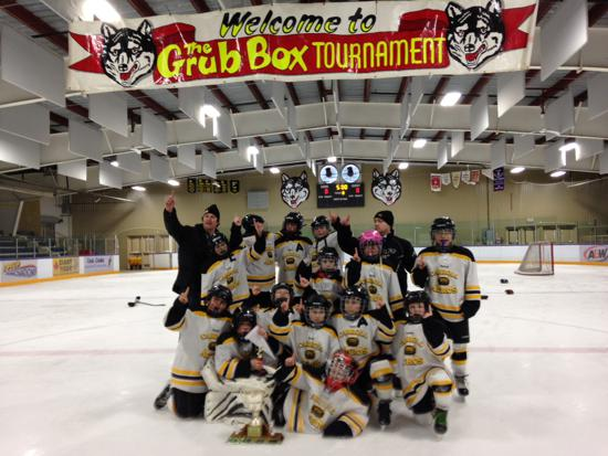 "Congrats!! Atom ""B"" Champs in The Pas this past weekend"