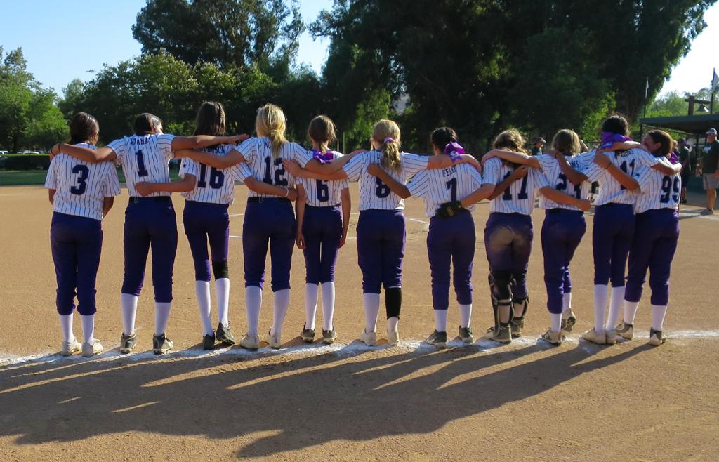 All-Star softball sisters!