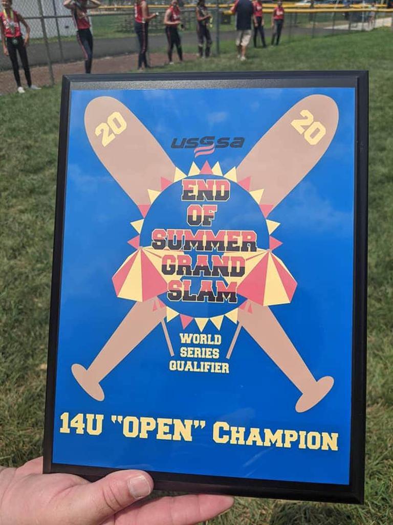 July 2020: 14U Salvatore, USSSA End of Summer Grand Slam Tournament Champions