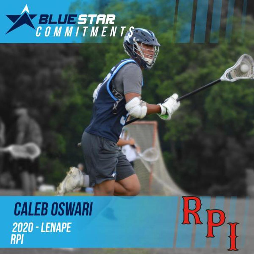 Caleb Oswari Lenape RPI Blue Star Lacrosse