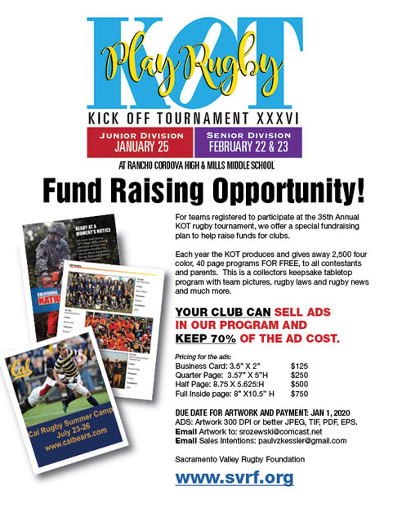 Use the 2020 KOT to Fundraise for your Club