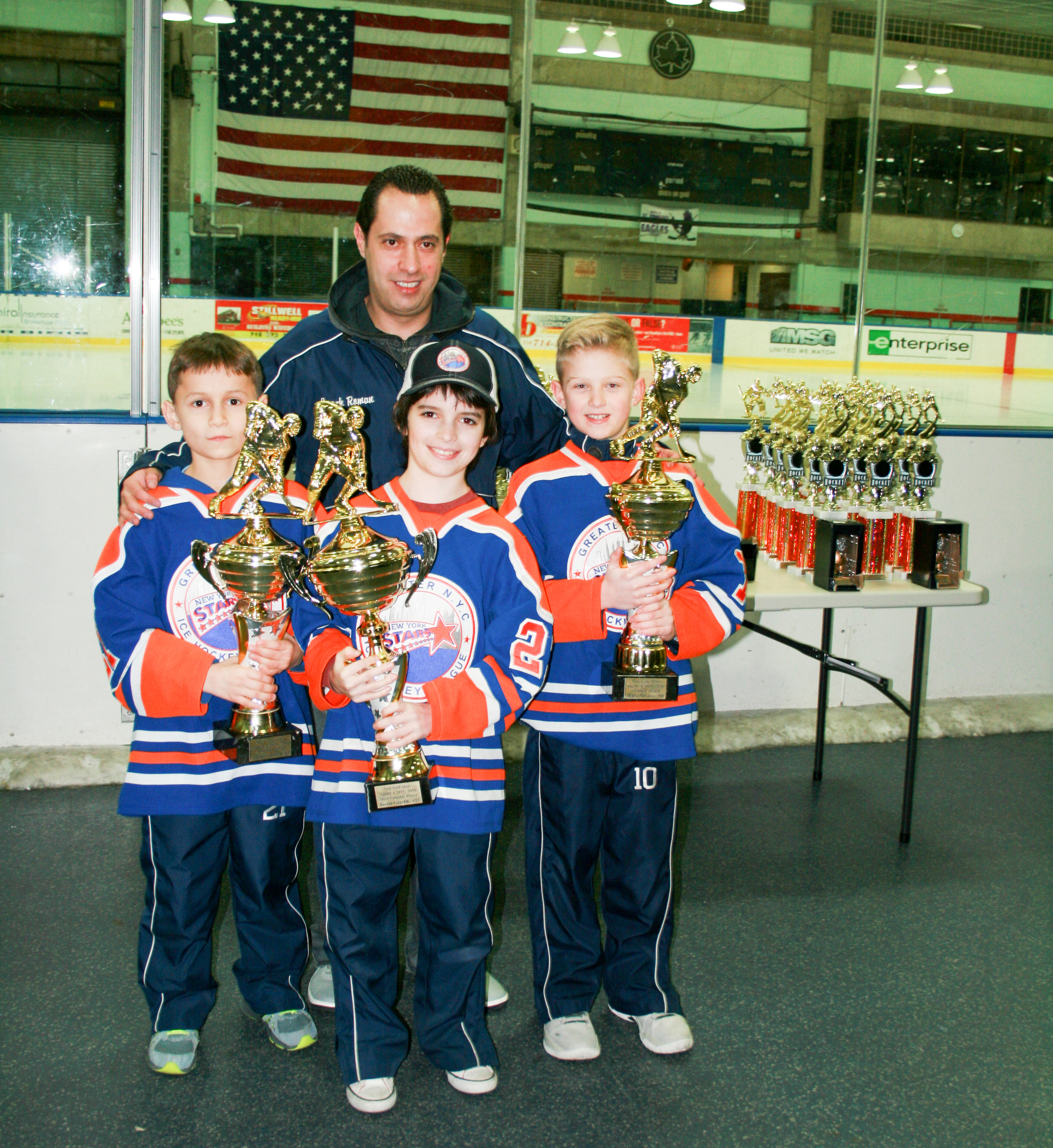 Squirt A: MIP - Mathew Almeida, MVP - Justin Gorelik, Coashes Award - Marc Deluca and Coach Roman