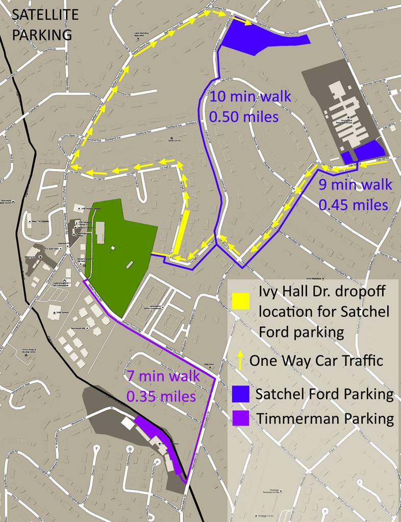 Opening Day Satellite Parking