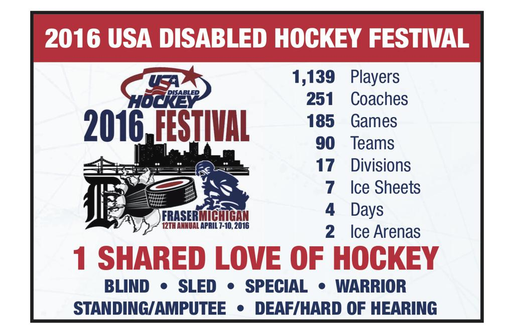 2016 Disabled Hockey Festival Ad