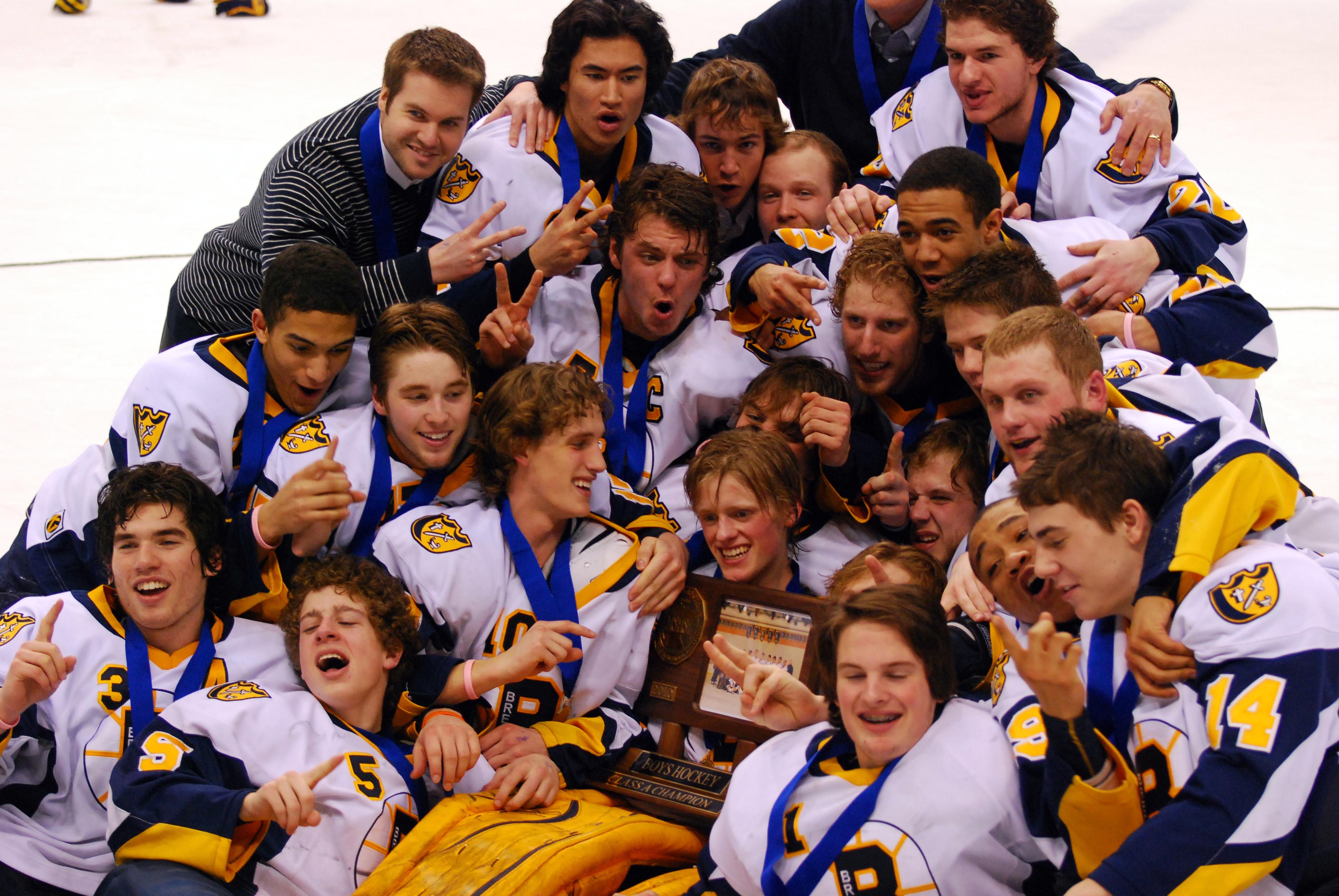 Boys State H S  Hockey Champions (1945-2019)