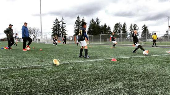 """TFA Willamette Academy - Learning to play soccer the """"Barca Way"""" in Albany, OR"""
