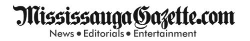 Mississauga Gazette Logo and Mississauga News Logo. Mississauga Newspaper. Jim Tovey and Bonnie Crombie