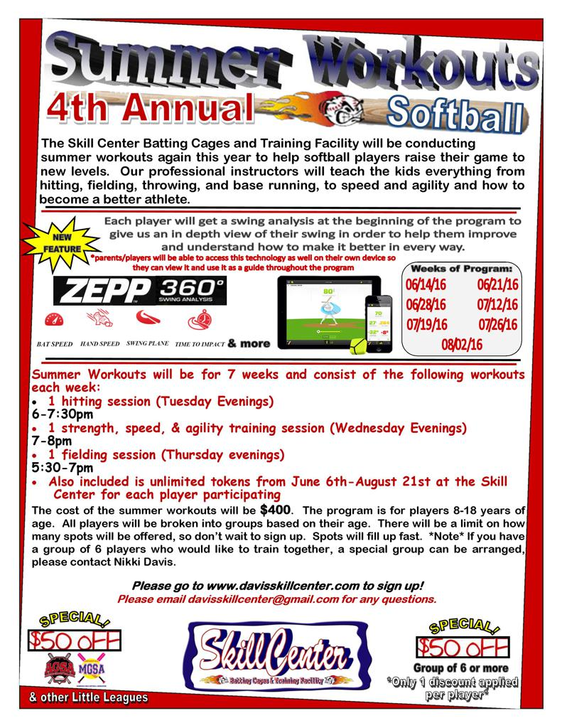 Click On The Picture Below To Go Summer Workouts Softball Program Home Page