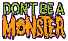 Don t be a monster logo   color small