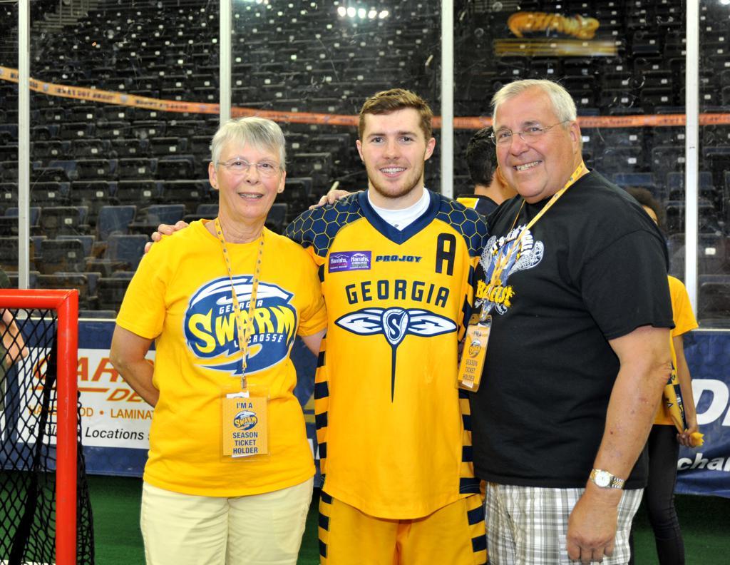 swarm lacrosse fan center fan photos
