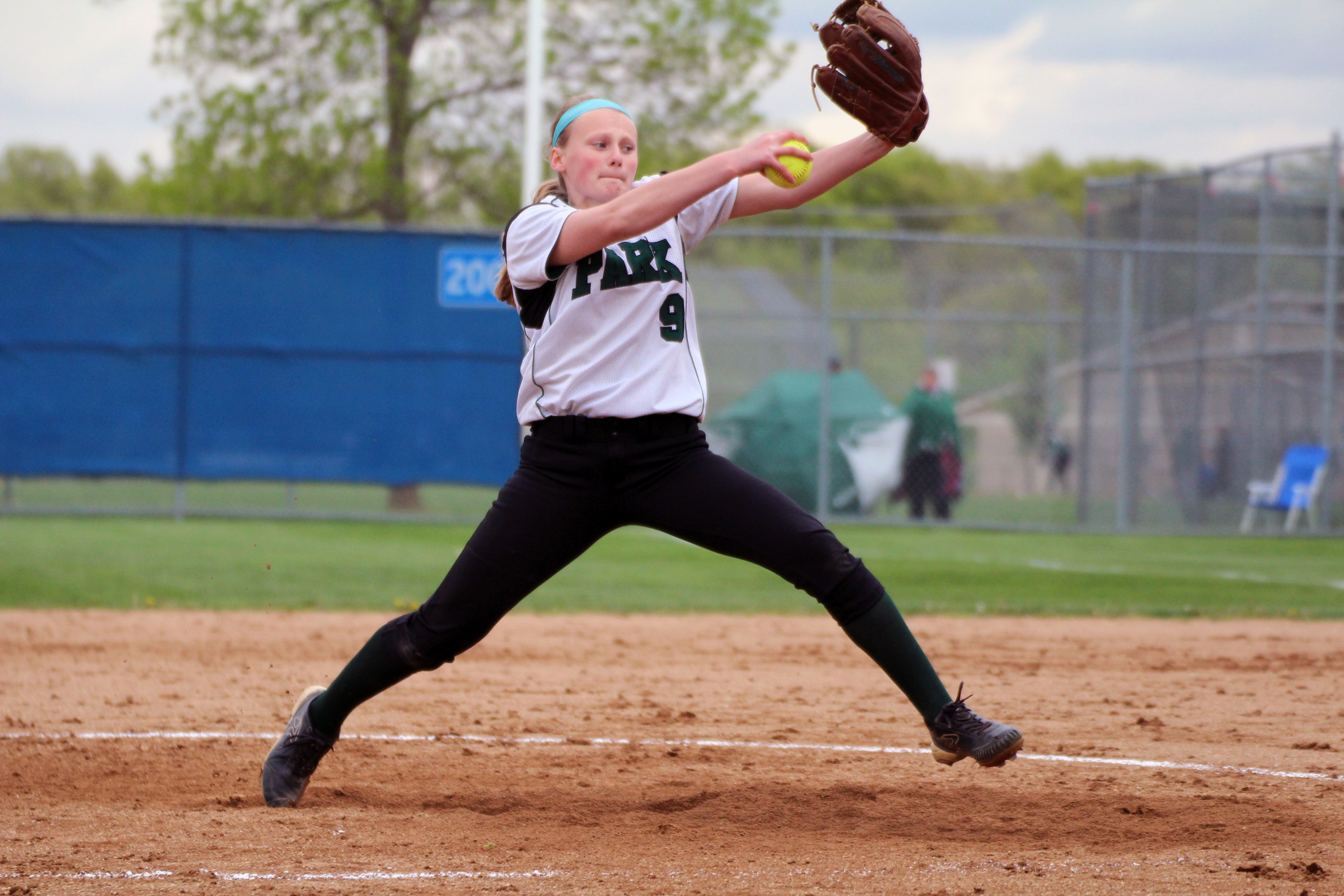 Freshman Bryanna Olson allowed one run in the final four innings to clinch a victory for top-ranked Park of Cottage Grove. Photo by Trevor Squire