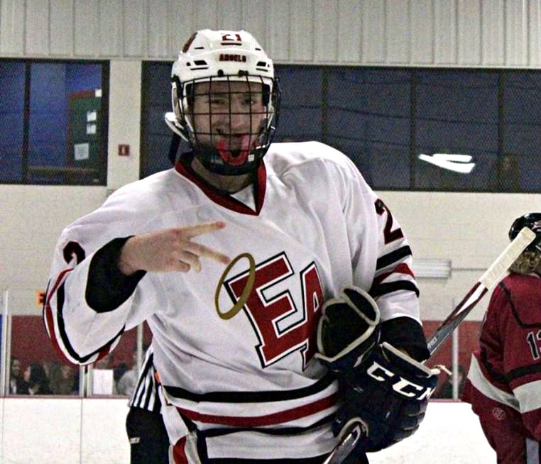 Denver East's Wyatt Cirbo led the CSHAA in 2019-2020 with 38 assists.