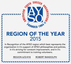 Region 418: AYSO Region Of The Year