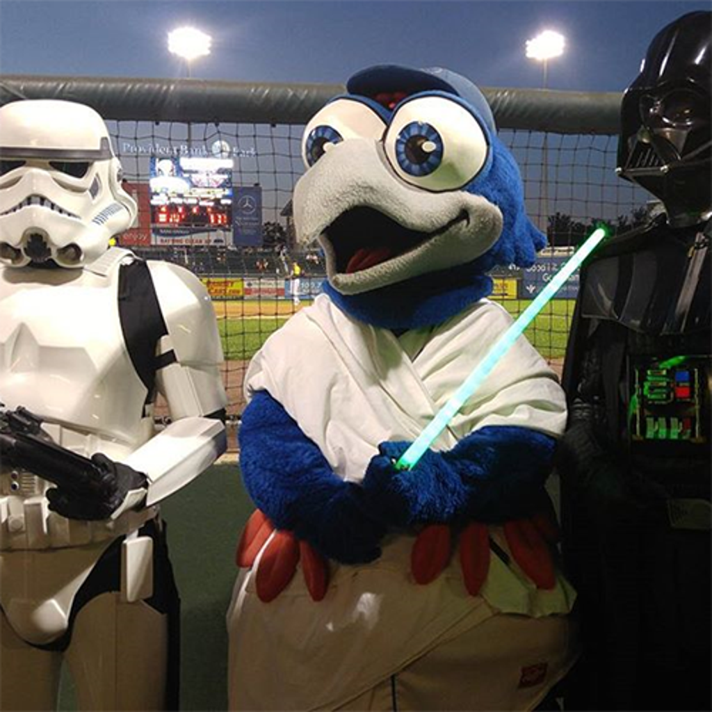 Meet some of your favorite Star Wars characters during the Rockland Boulders Star Wars Night!