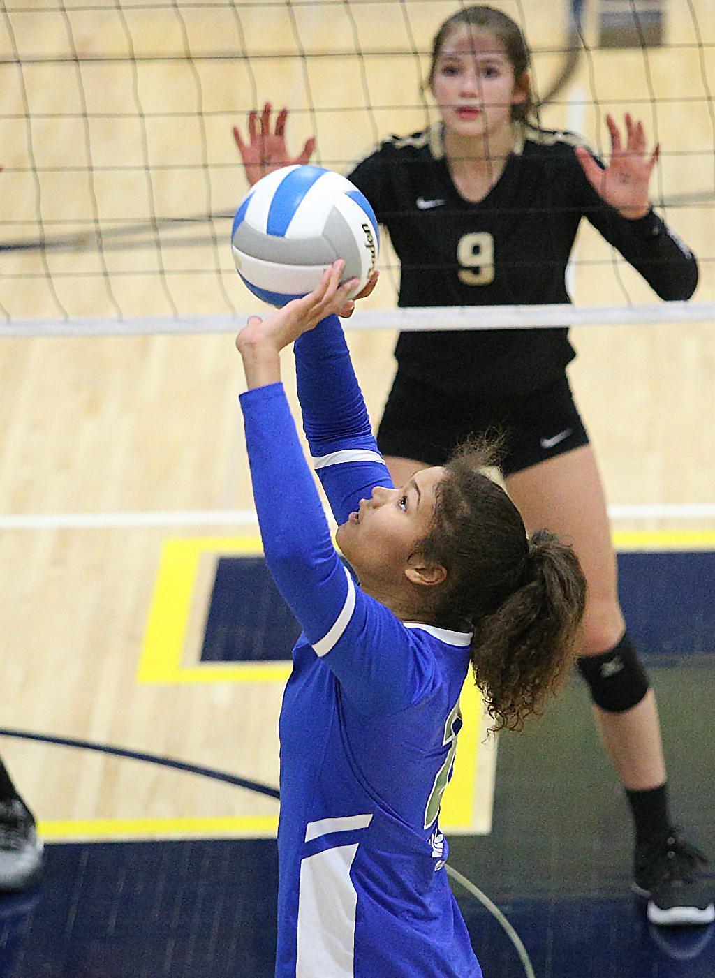 Sophomore setter Kennedi Orr led Eagan with 16 assists and 14 kills on Saturday night. The Wildcats advance to their sixth-straight Class 3A state tournament after defeating the Raptors in three sets. Photo by Cheryl Myers, SportsEngine