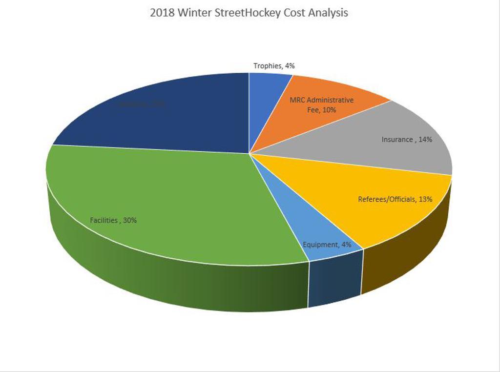 2017 Winter Street Hockey Cost Analysis