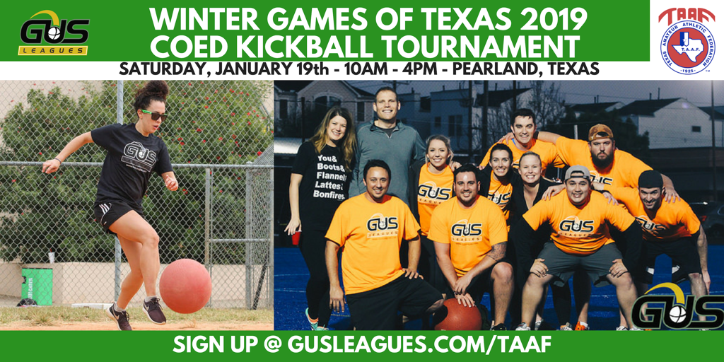 TAAF Winter Games of Texas - Coed Kickball