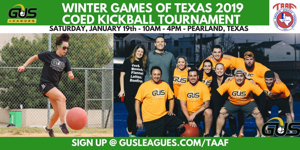 TAAF Winter Games of Texas - Coed Kickball