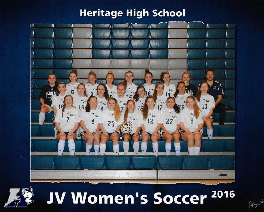 heritage women's jv soccer team photo