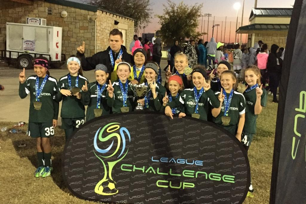 Evolution 06 Girls - U90 League Challenge Cup Champions, Fall 2016