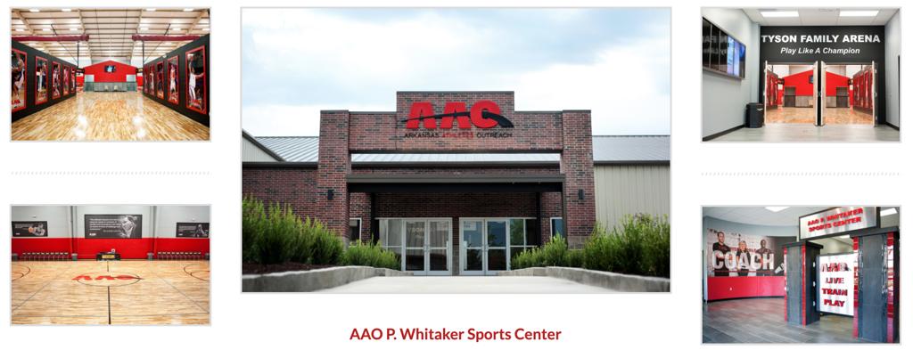 Fayetteville AAO P. Whitaker Sports Center, 1515 Burr Oak Drive, Fayetteville, AR 72704