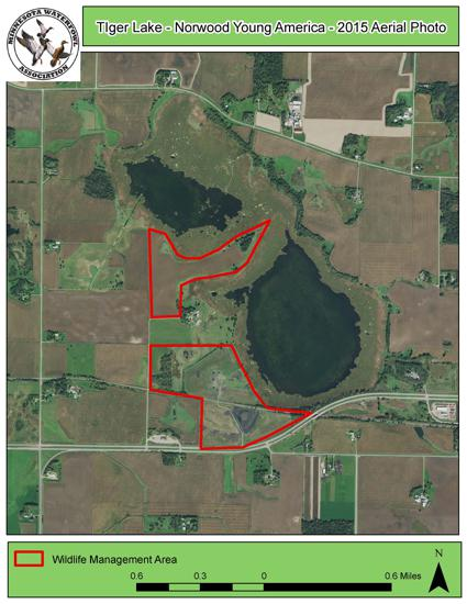 Tiger Lake Aerial Photo from 2015