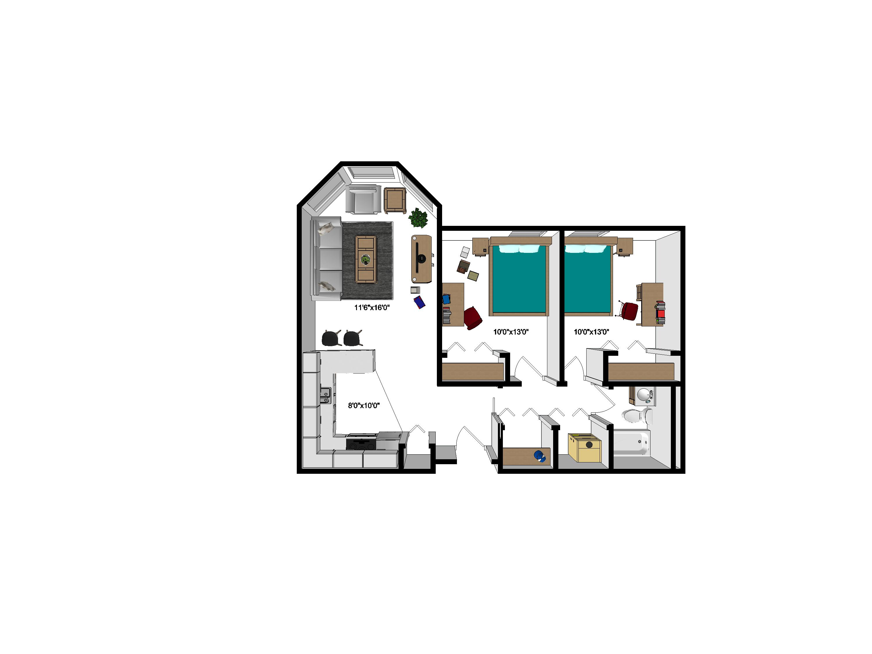 100 Studio Loft Apartments 450 Sq Ft Floor Plans