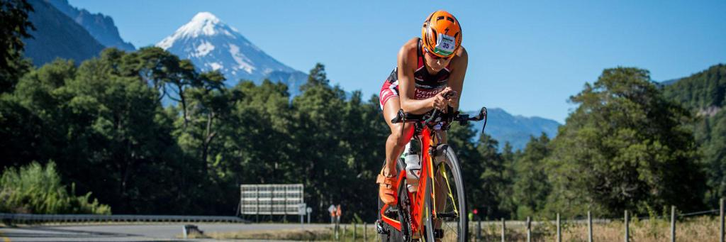 IRONMAN 70.3 Pucon bike course.
