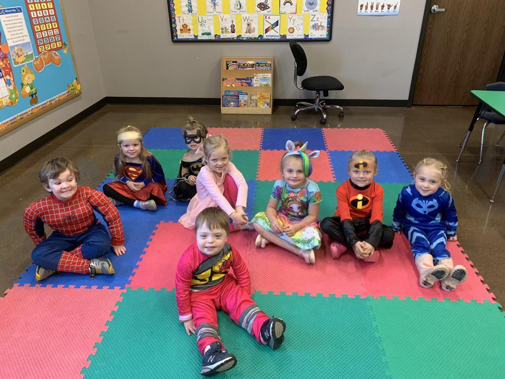 Kids dressed up for Jam Hops' Halloween event