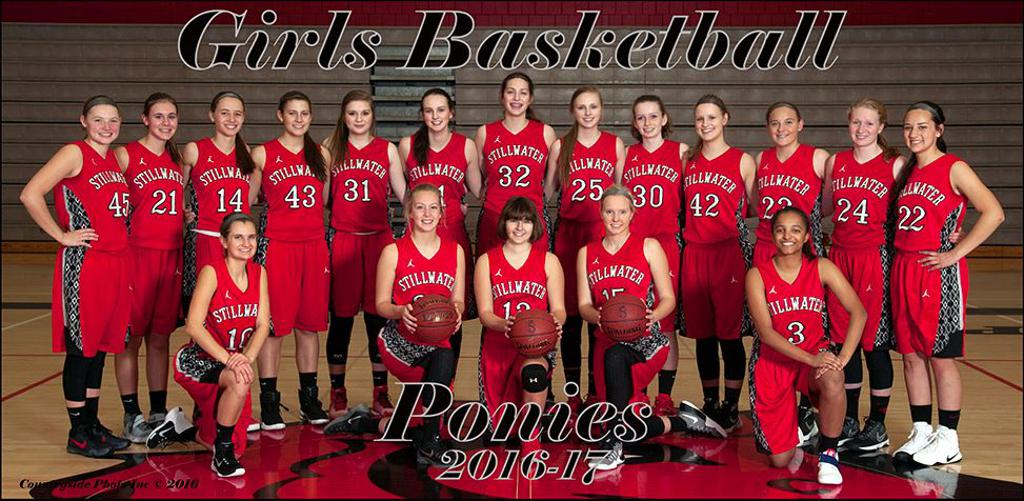 2016-17 - Stillwater Girls Varsity Basketball Team