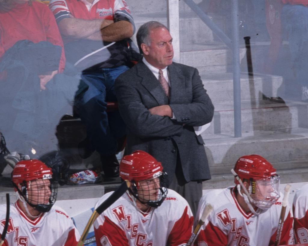 Coach Sauer during his time at Wisconsin, where he led the Badgers to two national championships