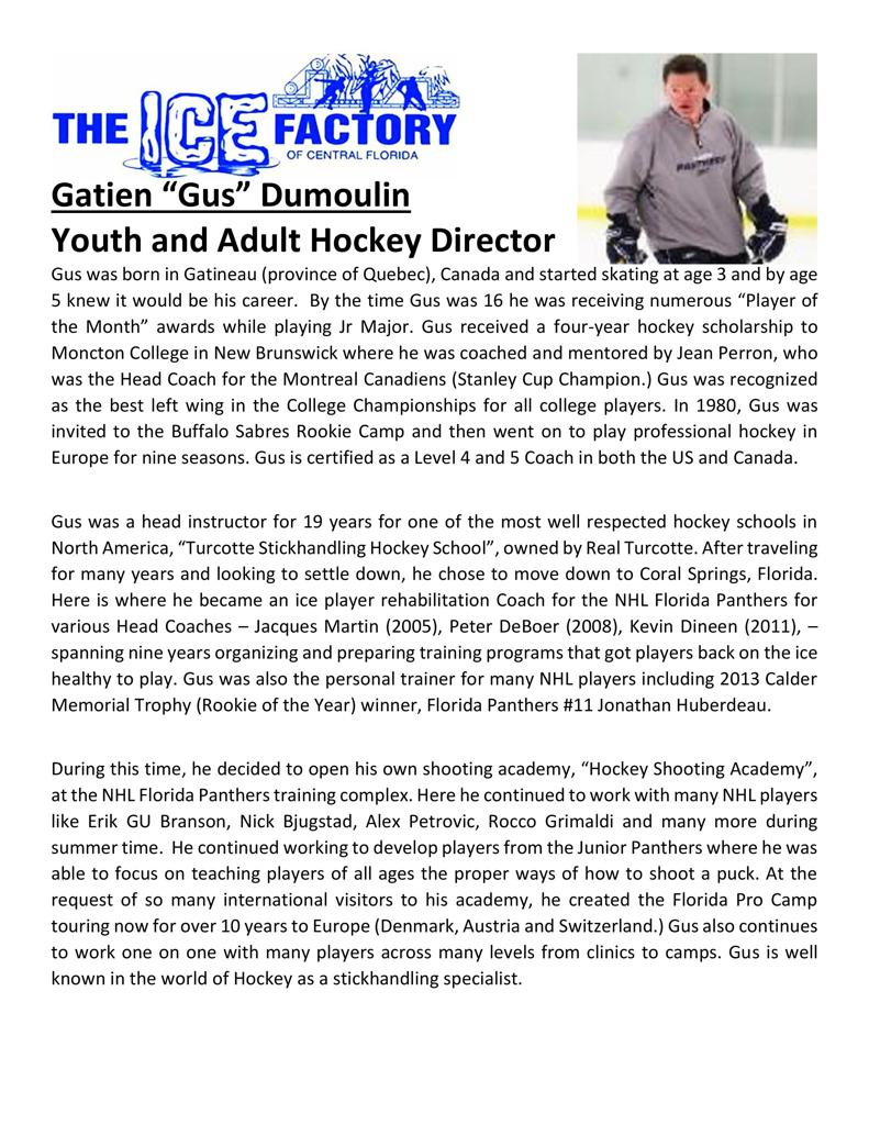 Meet our New Youth & Adult Hockey Director!