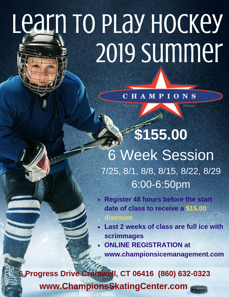 2019 Summer Learn to Play Hockey