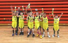 3rd Grade Boys Win in Tecumseh 2/23/19