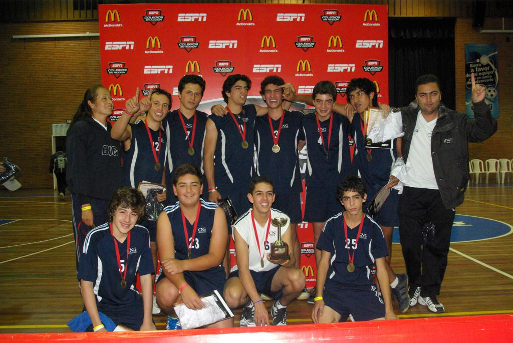 Miguel with Volleyball Team