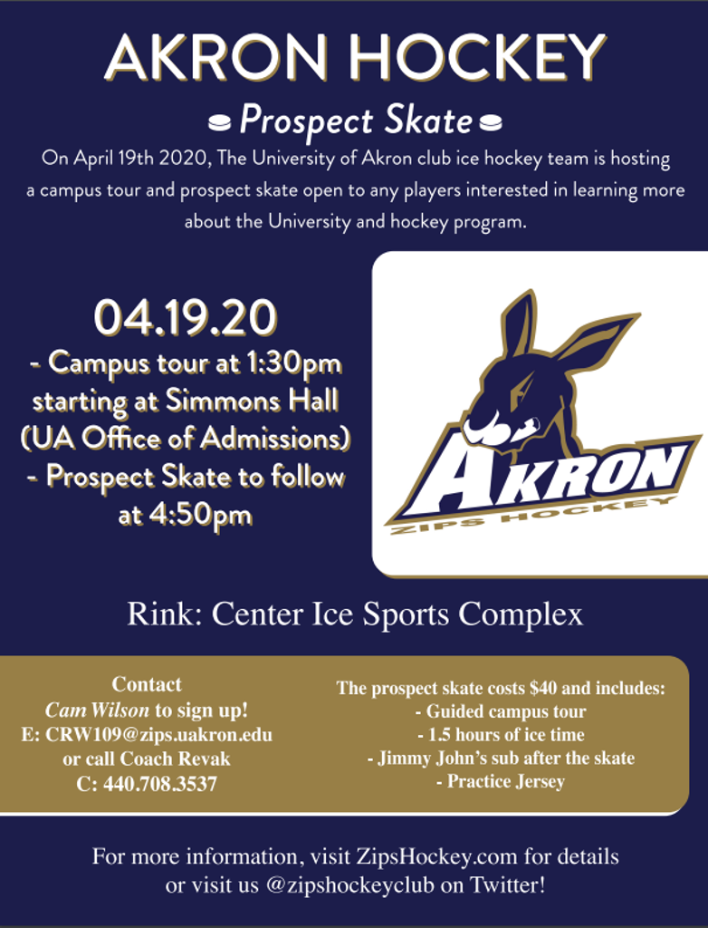 Information on the upcoming Prospect Skate & Tour