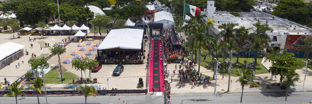 Finish line at IRONMAN 70.3 Cozumel