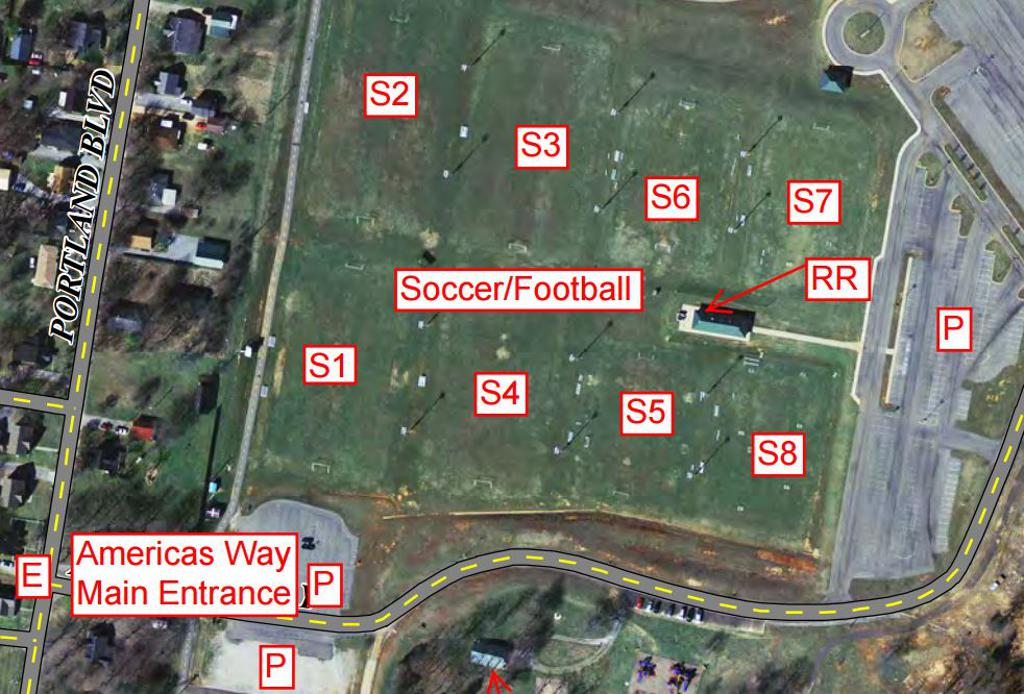 Portland Tennessee Map.Richland Park Soccer Complex