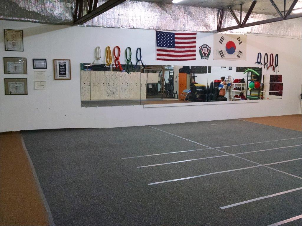 The workout area of our Craig Taekwondo Institute, the martial arts school in Craig, CO