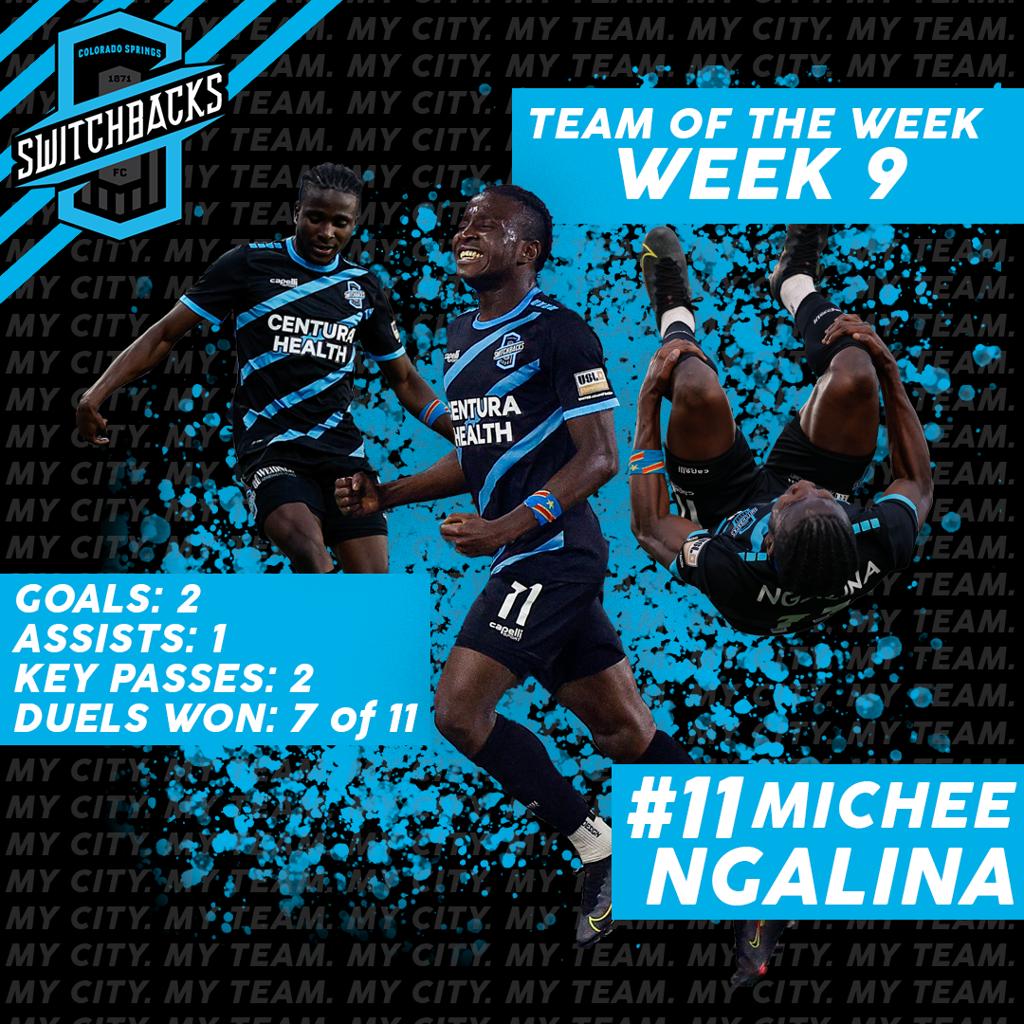 Switchbacks FC Team of the Week- Week 9- Michee Ngalina