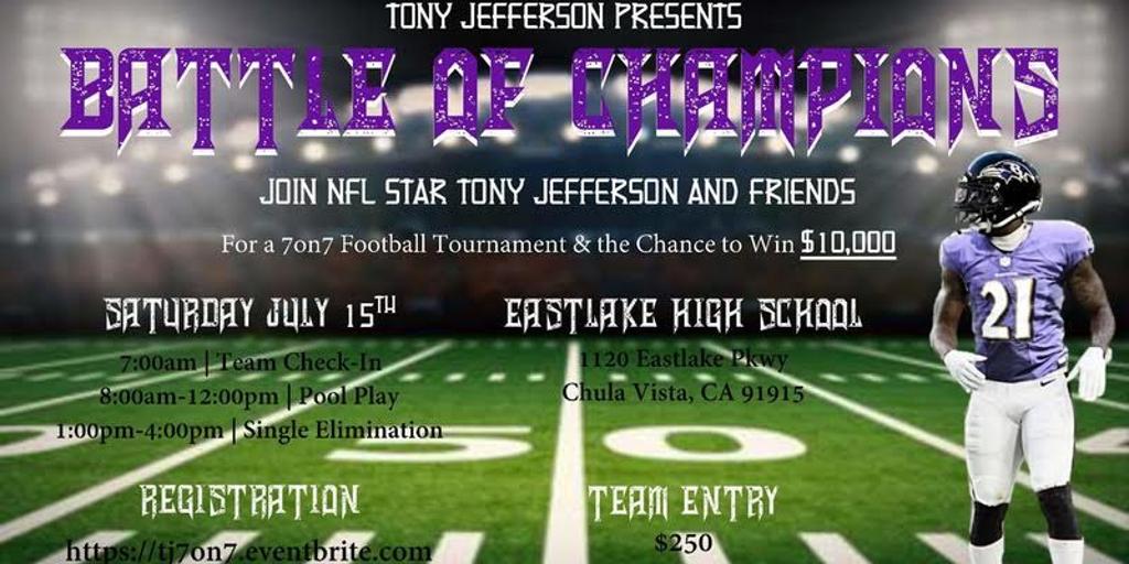 Tony Jefferson Presents Battle of Champions