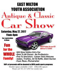 EAST MILTON YOUTH ASSOCIATION CAR SHOW