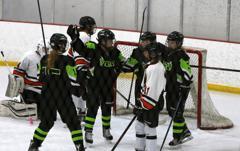 Anika einbeck goal celly haley alyssa knauf assist small