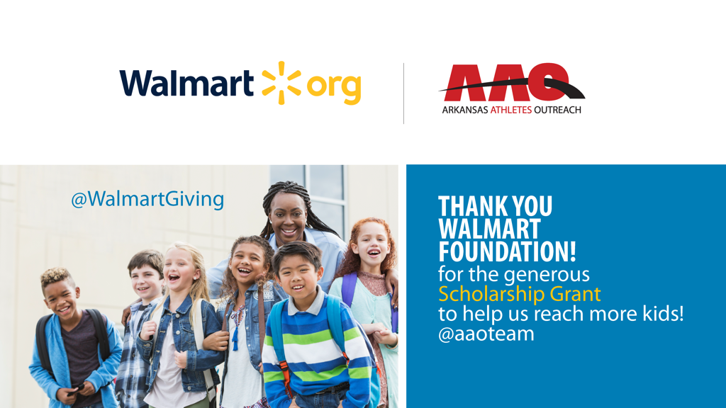 Thank you Walmart Foundation for helping kids