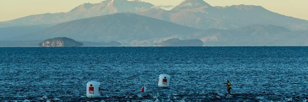 swimmers participating in 70.3 Taupo