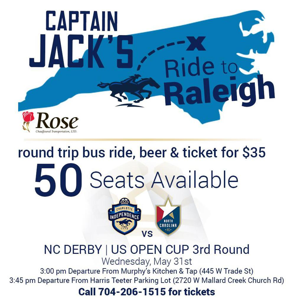Join Us! - Charter Bus To Raleigh for NC Derby
