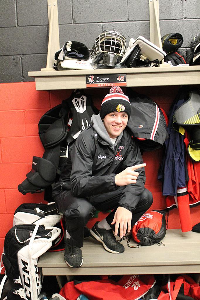 AJ Grzbek - Varsity Red Goalie #42