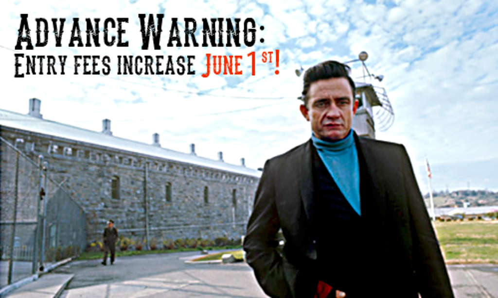 Johnny in front of Folsom Prison