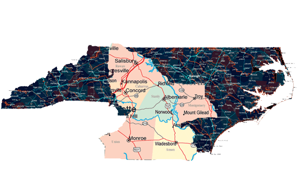 NCYSA Youth Academy Schedules - Map of the us 601 south below monroe nc