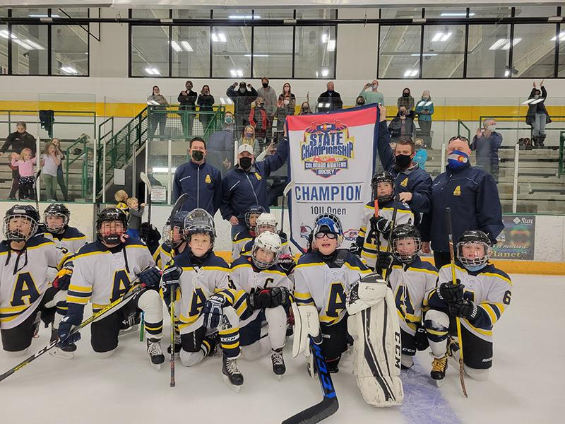 10U Open champion Arapahoe Warriors Youth Hockey Association